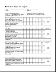 employee appraisal report template word u0026 excel templates
