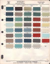 paint chips 1960 volkswagen beetle