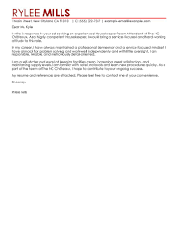cover letter examples for housekeeping choice image resume pastry