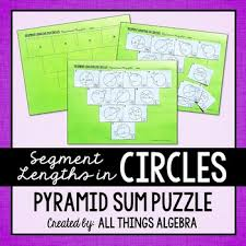 Segment Lengths In Circles Worksheet Answers Segment Lengths In Circles Chords Secants And Tangents Pyramid