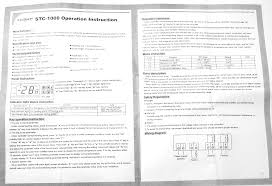 cooling heating temperature controller sensor stc 1000 220v 10a