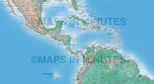 World Map Central America by Digital Vector Political World Map With Natural Earth Relief