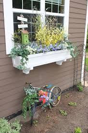 decoration wood for planter box red window box flowers window