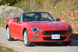 road to lake rosseau in the fiat 124 spider wheels ca