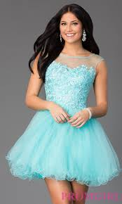 jeweled lace illusion short prom dress promgirl