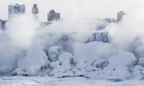 niagara falls freezes polar vortex drops temperatures