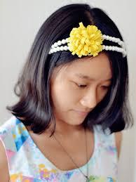 beaded headband how to make a handmade pearl beaded headband with yellow felt