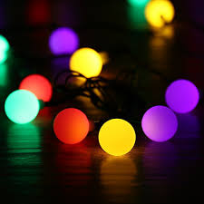 Christmas Lights Solar Powered by Aliexpress Com Buy Solar Power Led Ball Christmas Lights 21ft 50