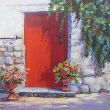 Red Door Paint by Red Door Painting By Mary Weir