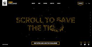 Challenge Site Tiger Challenge Awwwards Sotd