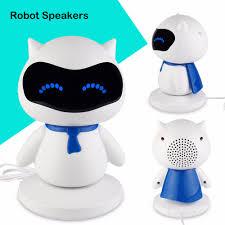portable cute robot smart speaker with music calls handsfree tf