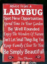 Ladybug Home Decor Ladybug Sign Home Decor Kitchen Dining By Carovabeachcrafts