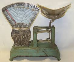 Vintage Kitchen Scales Antique Jacobs Brothers Ny Cast Iron Candy Store Confectionery