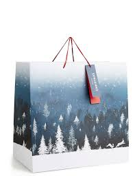 winter night extra large christmas gift bag m u0026s
