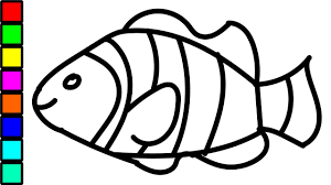 clown fish colouring videos kids coloring pages children
