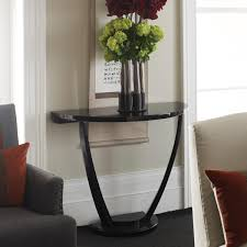 Living Room Console Tables Saving Small Living Room Spaces Design With Half Moon Contemporary