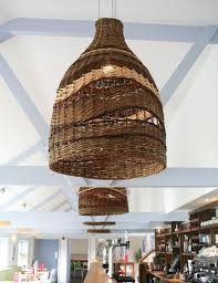 Wicker Pendant Light Space With Wicker Pendant Light Fixture Basket Collection