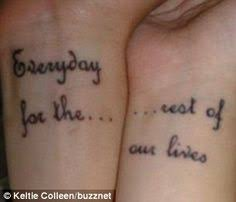 the hubby and i are thinking about getting matching tattoos