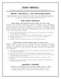 hvac resume examples hvac technician resume examples maintenance