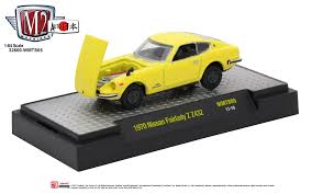 nissan yellow m2machines releases classic nissan lineup of 1 64 scale diecast