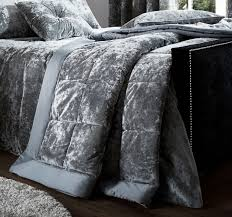 crushed velvet duvet cover set or throw or curtains or cushion or