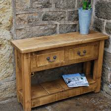 Outdoor Console Table Small And Narrow Diy Wood Outdoor Console Table With Drawer And