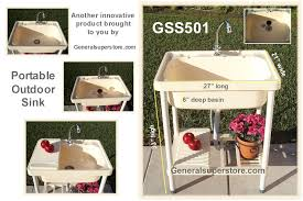 portable outdoor sink garden camp kitchen camping rv outdoor