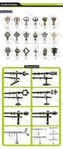 new decorative aluminum curtain rod finials iron curtain rings