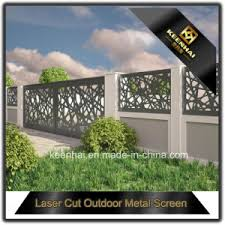 Decorative Outdoor Fencing China Laser Cut Outdoor Metal Screen Decorative Garden Fencing