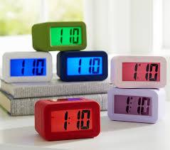 best light up alarm clock durable alarm clock cool color light up display days