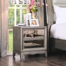 silver nightstands u0026 bedside tables shop the best deals for oct