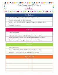 get organized checklist for your kitchen