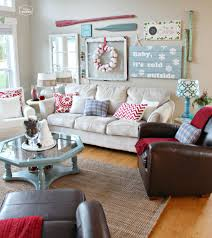Coastal Livingroom by Decorations Coastal Living Room Christmas Decor Alongside