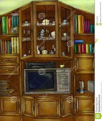 vintage cupboard and bookcase royalty free stock image image