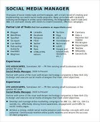Pr Resume Samples by Social Media Resume Digital Project Manager Resume Example