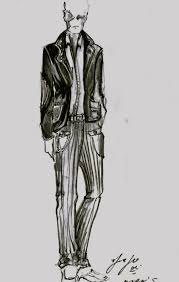 mens fashion sketches templates