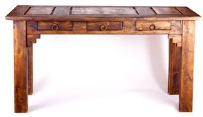 Rustic Wood Office Desk Salvaged Cabin Rustic Wood Office Writing Desk With 4 Drawers