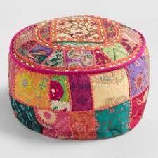 Kilim Storage Ottoman Traditional Indian Pouf Set Of 2 A Home Needs Pinterest