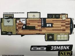 two bedroom rv floor plans new or used keystone retreat 39 1 loft rvs for sale rvtrader com