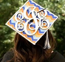 monogram graduation cap 13 graduation cap decorating ideas no sleep till brooklynn
