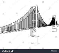 vector golden gate bridge san francisco stock vector 445599331