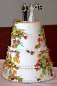 fall fantasy wedding cake