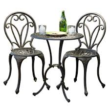 Cast Iron Bistro Table And Chairs New Cast Iron Bistro Patio Set Outdoor Table Chairs Furniture