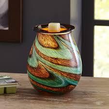 better homes and gardens tidepool art glass wax warmer gift set