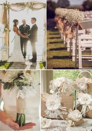burlap wedding wedding decorations and ideas
