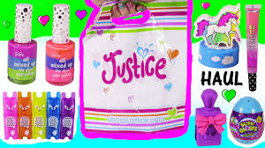 justice haul 2 supplies u0026 makeup bags tie dye nail polish