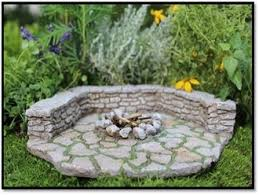 Fire Pit Pad by Stone Firepit Pad And Wall Set For Miniature Fairy Gardens