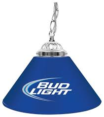 Bud Light Logo Single Shade Bar Lamp W Bud Light Logo Contemporary Pool Table