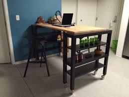cherry wood sage green shaker door kitchen island table ikea
