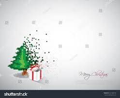 christmas tree gift pixel style pixel stock vector 723168730